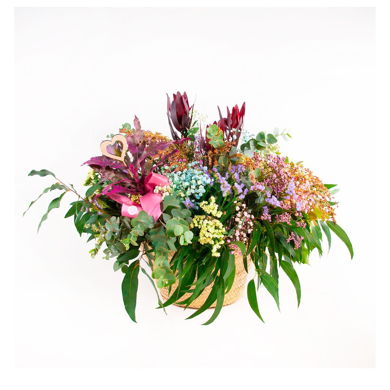 Capazo flores y verde